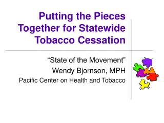 Putting the Pieces Together for Statewide Tobacco Cessation
