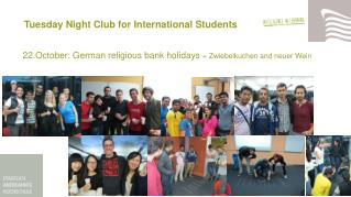 Tuesday Night  Club  for  International  Students