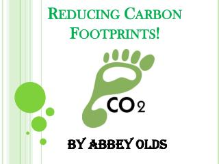 Reducing Carbon Footprints!