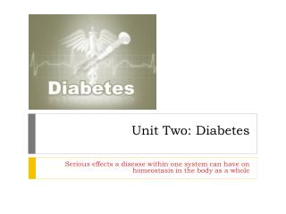 Unit Two: Diabetes