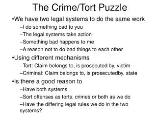 The Crime/Tort Puzzle