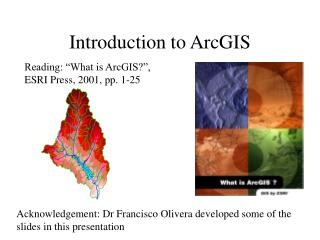 Introduction to ArcGIS