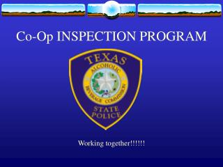 Co-Op INSPECTION PROGRAM