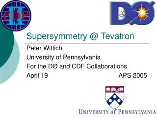 Supersymmetry @ Tevatron