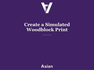 Create a Simulated Woodblock Print