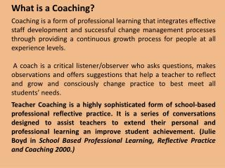 What is a Coaching?
