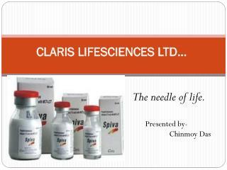 CLARIS LIFESCIENCES LTD…