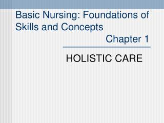 HOLISTIC CARE