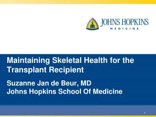 Maintaining Skeletal Health for the Transplant Recipient