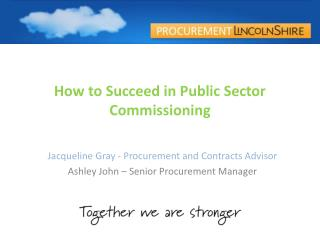 How to Succeed in Public Sector Commissioning