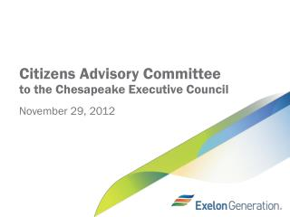Citizens Advisory Committee to the Chesapeake  Executive  Council