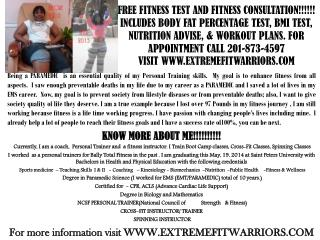FREE FITNESS TEST AND FITNESS CONSULTATION1