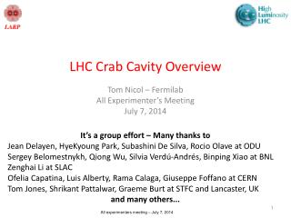 LHC Crab Cavity Overview