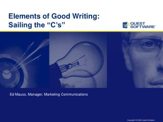 "Elements of Good Writing:  Sailing the ""C's"""