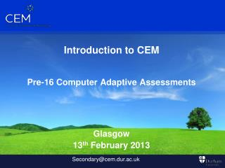 Introduction to CEM Pre-16 Computer Adaptive Assessments