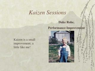 Kaizen Sessions
