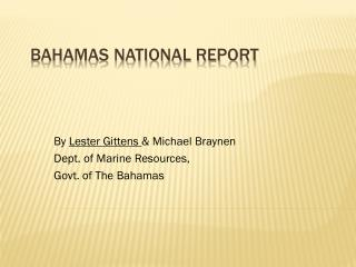 Bahamas National Report