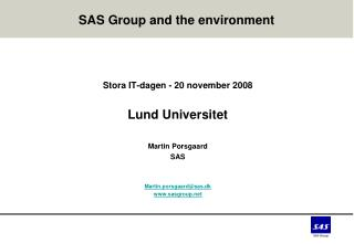 SAS Group and the environment