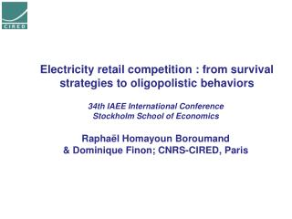 Electricity retail competition  :  from survival strategies to oligopolistic behaviors