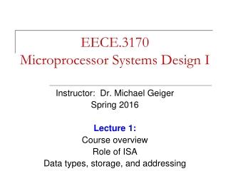 EECE.3170 Microprocessor Systems Design I