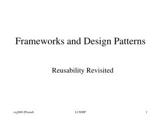 Frameworks and Design Patterns