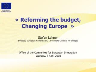 Commission undertakes  a review of the EU budget