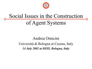 Social Issues in the Construction of Agent Systems