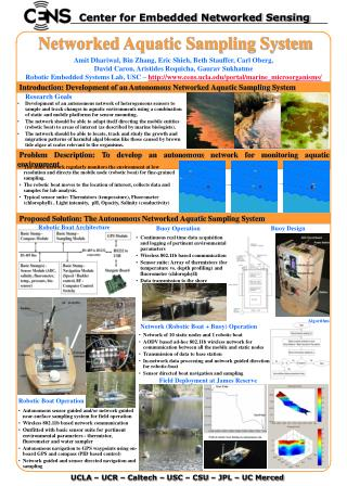 Networked Aquatic Sampling System