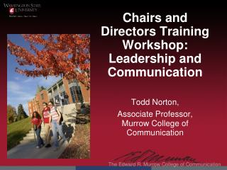 Chairs and Directors Training Workshop: Leadership and Communication
