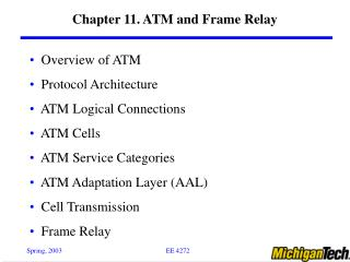 Chapter 11. ATM and Frame Relay