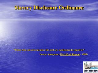 Slavery Disclosure Ordinance
