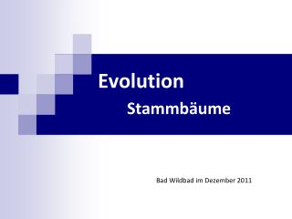 Evolution  Stammbäume