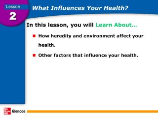 What Influences Your Health?