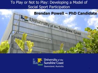 To Play or Not to Play: Developing a Model of Social Sport Participation