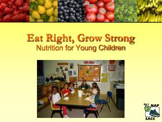 Eat Right, Grow Strong Nutrition for Young Children