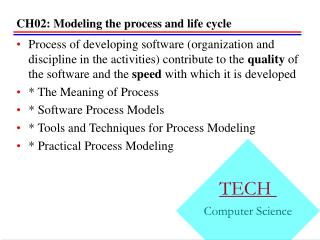 CH02: Modeling the process and life cycle