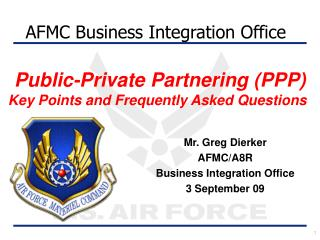 Public-Private Partnering (PPP) Key Points and Frequently Asked Questions
