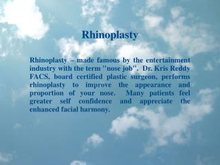 Dr Kris Reddy Reviews Rhinoplasty and Septoplasty