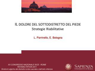 L. Parrinello , E. Bologna