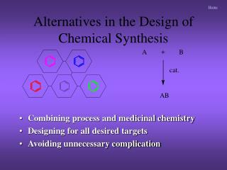 Alternatives in the Design of Chemical Synthesis
