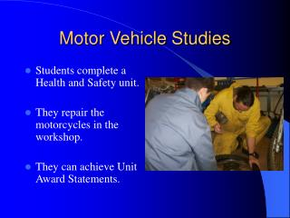 Motor Vehicle Studies