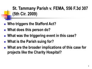 St. Tammany Parish v. FEMA, 556 F.3d 307 (5th Cir. 2009)