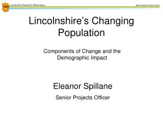 Lincolnshire's Changing Population