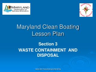 Maryland Clean Boating Lesson Plan