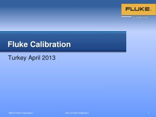Fluke Calibration