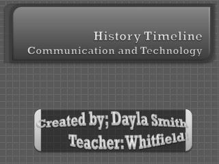 History Timeline Communication and Technology