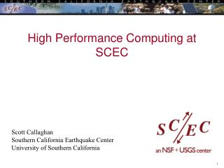 High Performance Computing at SCEC
