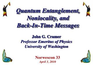 Quantum Entanglement, Nonlocality, and Back-In-Time Messages