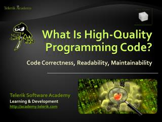 What Is High-Quality Programming Code?