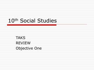 10 th Social Studies
